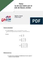 Matriz inversa por el método de Gauss-Jordan