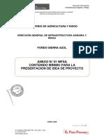 ANEXO 3  ANEXO N° 01-MFSA Contenido mínimo para la presentación de Idea de Proyecto