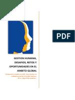 Gestion Humana, Desafios, Retos y Oportunidades en El Ambito Global #EdgarPeñaSanabria