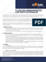 Política de Herramientas Virtuales Institucionales Colegio De La Salle