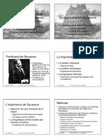 Une Breve Histoire De La Linguistique Contemporaine