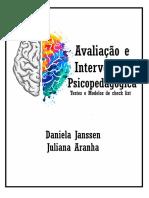 Avaliação e Intervenção Psicopedagógica_Testes e Modelos