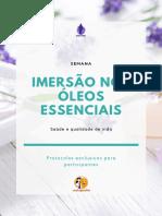 IMERSÃO NOS ÓLEOS ESSENCIAIS
