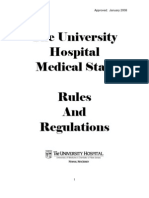 The University Hospital Medical Staff Rules Regulations