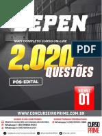 2000 QUESTÕES - CESPE - DEPEN