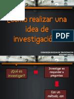 Cómo realizar una idea de investigación