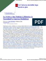 La NASA y Sus Noticias (¿Histeria y_o Necesidad_)_ Guerras Mediáticas