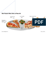Pizza hut infograph
