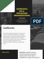 Entrevista en la psicología organizacional