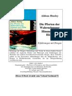 Aldous Huxley Pforten Der Wahrnehmung