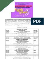 MCW 2011 Algebra Kadabra (Program of Activities)