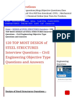 120 TOP DESIGN of STEEL STRUCTURES Multiple Choice
