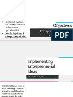 3 Implementing Entrepreneurial Ideas