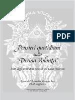 Pensieri Quotidiani Sulla Divina Volontà (Raccolta Fatta Da Padre Bernardino Bucci)
