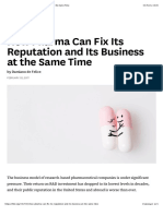 How Pharma Can Fix Its Reputation and Its Business at the Same Time