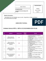 Boletim de Auto Diagnósticos Dos Splits Rev. 10