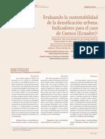 Evaluando la sustentabilidad de la densificación urbana. Indicadores para el caso de Cuenca