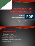 Adobe Photoshop for Beginning 2