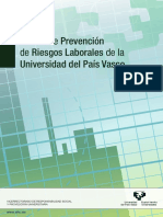 Plan de Prevencion de la UPV EHU