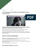 ¿Cómo Reconocer los Brotes de Fibromialgia Severa y sus Síntomas_ _ Fibromialgiamelilla