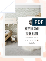 6 - HOW TO STYLE YOUR HOME