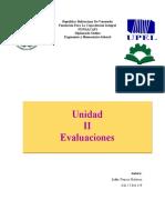 Unidad II Evaluaciones