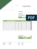 diseño en excel de elaboracion de presupuesto 21