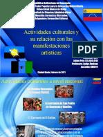 Actividades Culturales en Venezuela