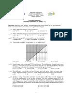 Grade 8 Q2 - Summative Assessment Weeks 1 & 2