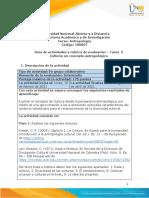 Guia de actividades y Rúbrica de evaluación - Tarea 2 - Cultura un concepto antropológico