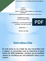 5. unidad 3 diapositiva de la comunidad rural y urbana