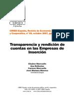 CarmenMarcuelloYOtros.transparenciaEnEmpresasDeInserción.revcIRIEC59!91!122 2007