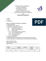 formato de informe comunidad 2016