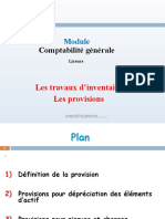 Cours Provision