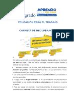 CARPETA DE RECUPERACIÓN 1° EPT