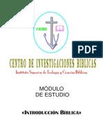 01 - Introducción bíblica