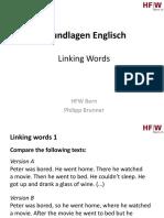 Basics 13 -  linking words