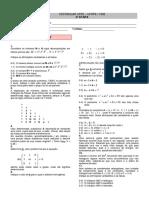 Matemática 1 - 2ª Fase - UFPE - 1992