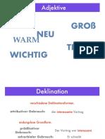 Deklinationsformen Adjektive