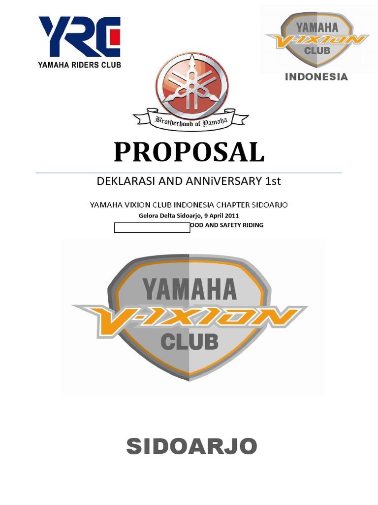 Contoh Proposal Sponsor Anniversary Club Motor - Berbagi ...