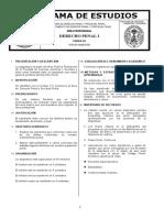Programa de Curso Derecho Penal I