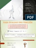 EVALUACIÓN DE FUNCIONES