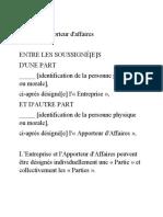 Modele Contrat Apport Daff