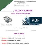 Chapitre 1 Et 2 Cristallographie