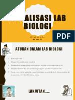 Sosialisasi Lab. Bio Kelas XI MIPA