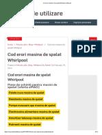 Cod Erori Masina de Spalat Whirlpool _ Manual