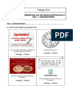 Vorbereitung auf die AP A1 (Lesen)