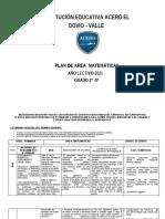 PLAN DE ESTDIO COMPLETO MATEMATICAS 2021