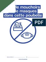 Poubelle Pas de Mouchoirs Ni de Masques