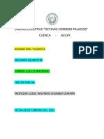 Carátula Febrero del 2021 Segundo Quimestre Filosofía  Segundos Intensivos A,B,C,D